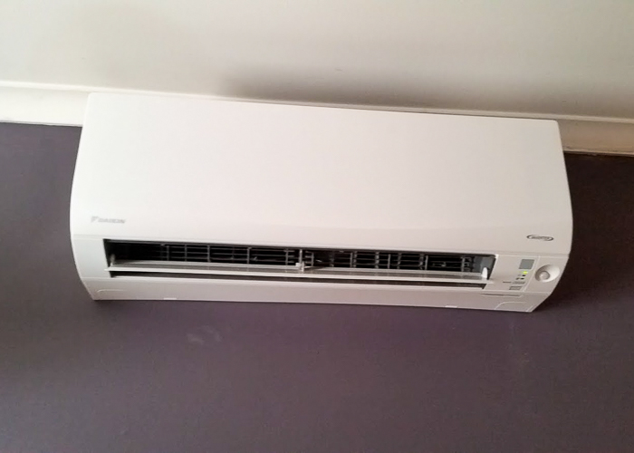 Air conditioner installed by Melba Electrical Services