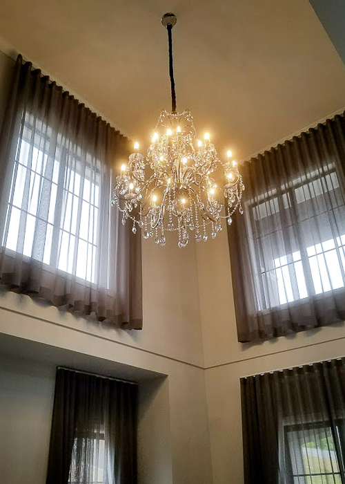 Chandelier- finished installed by Melba Electrical Services