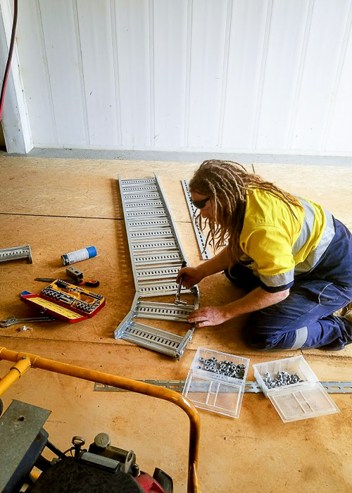 Daniel- cable tray Melba Electrical Services