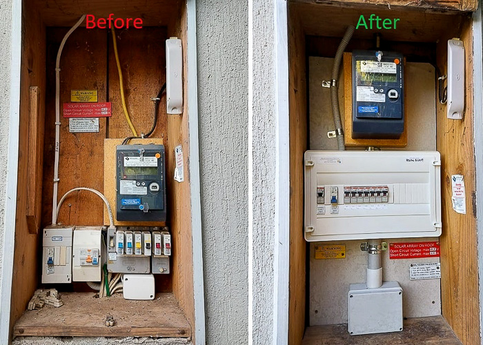 Fuse board-before & after installed by Melba Electrical Services