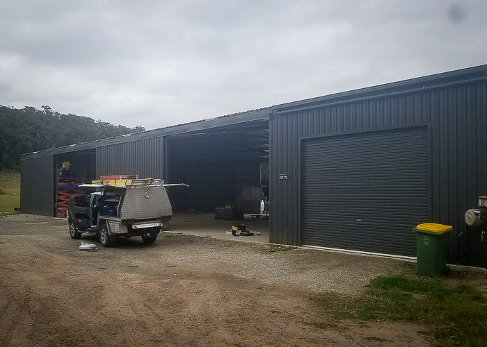 Outside Commercial shed- new lights & power installed by Melba Electrical Services