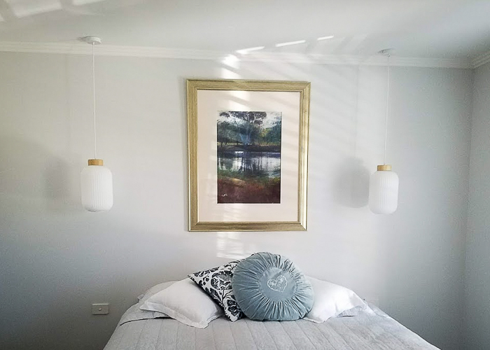 bedroom lights installed by Melba Electrical Services