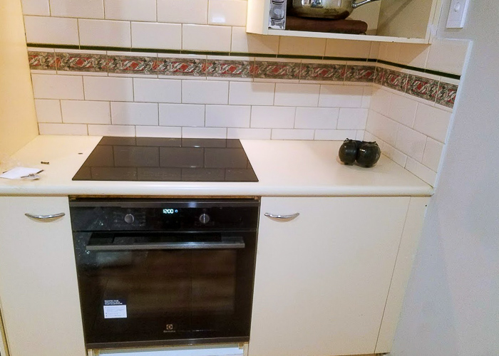 new cook top installation installed by Melba Electrical Services