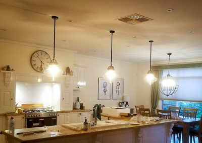 Add new pendant lighting to existing kitchen Melba Electrical Services