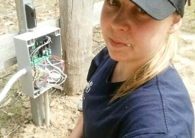 Amy from Melba Electrical Services - Repairing rural electric gate