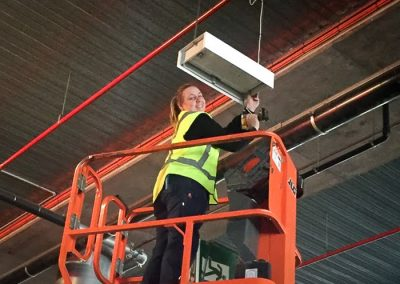 Amy from Melba Electrical Services - Repairs to shopping centre car park lighting