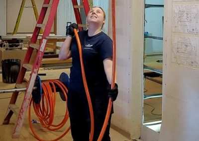 Amy from Melba Electrical Services -sub mains