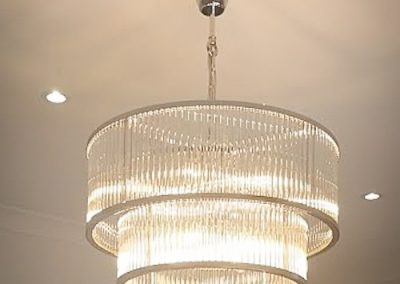 Beacon Lighting chandelier installed by Melba Electrical Services