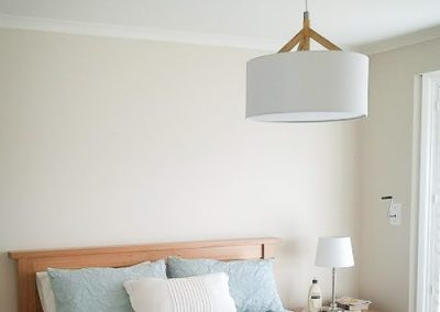 Bedroom lighting installed by Melba Electrical Services