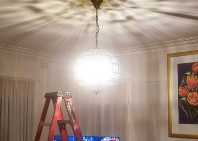 Loungeroom- fishbowl light installed by Melba Electrical Services