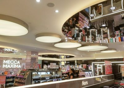 Mecca- Make up store- Lighting installed by Melba Electrical Services