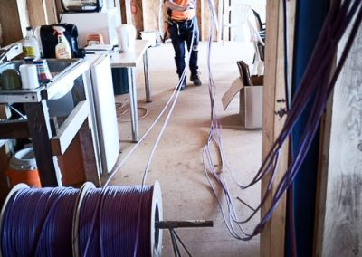 Rebecca- Running data cables installed by Melba Electrical Services