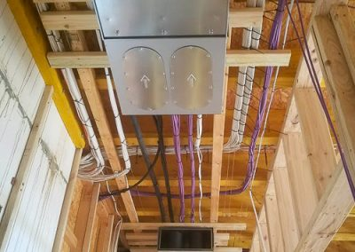Wires on cat wire installed by Melba Electrical Services
