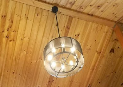 cathedral ceiling- light installed by Melba Electrical Services