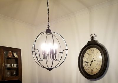 dining room light installed by Melba Electrical Services