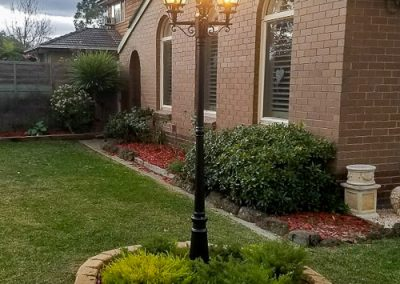 garden pole light installed by Melba Electrical Services