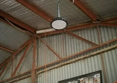 horse stable lighting installed by Melba Electrical Services