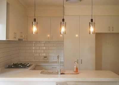 kitchen pendant installed by Melba Electrical Services